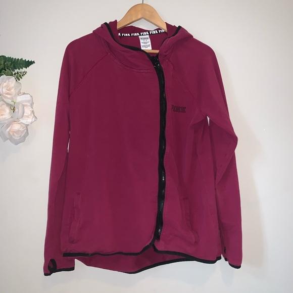 Victoria Secret Pink Zip Up Hoodie Work Out Jacket